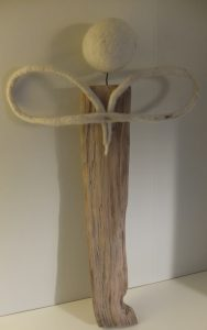 Engel Holz Filz hinten