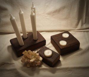 Eichenholz Kerzenhalter